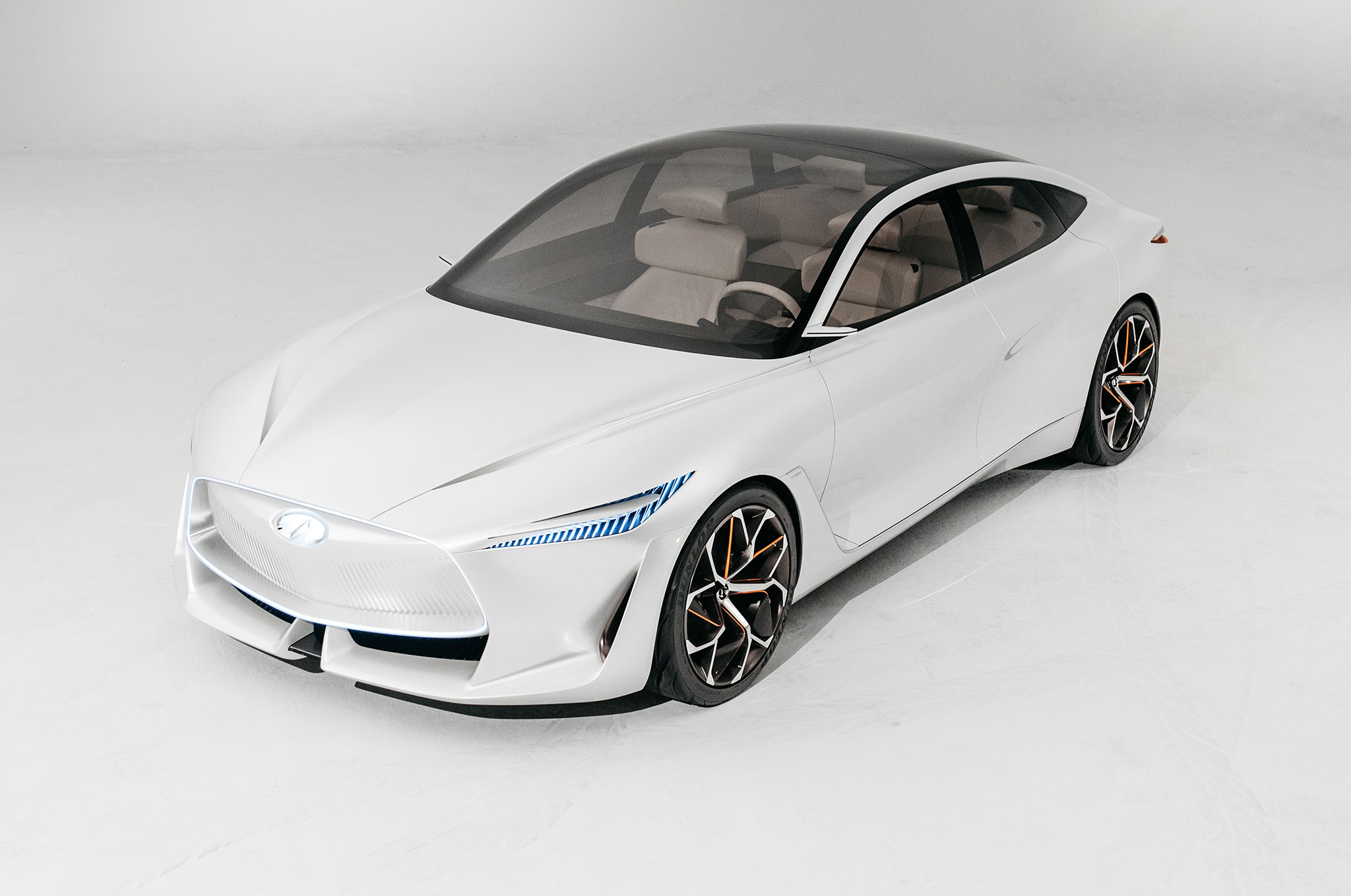 Infiniti Q Inspiration Concept Front Side View From Above