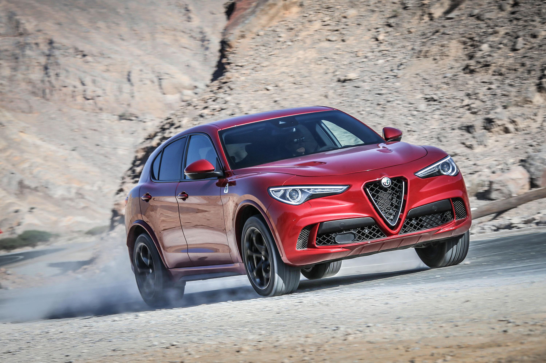 2018 Alfa Romeo Stelvio Quadrifoglio Front Three Quarter