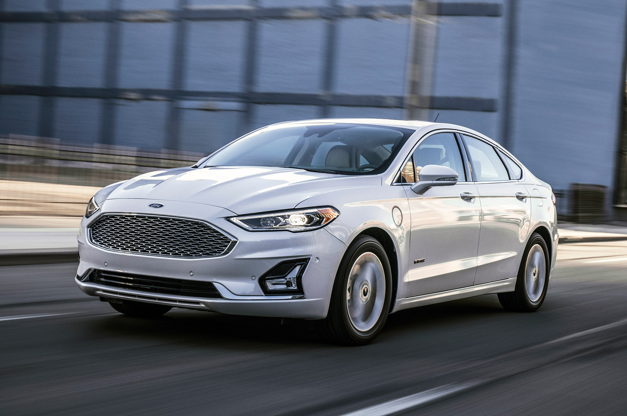 Ford Fusion Front Three Quarter In Motion