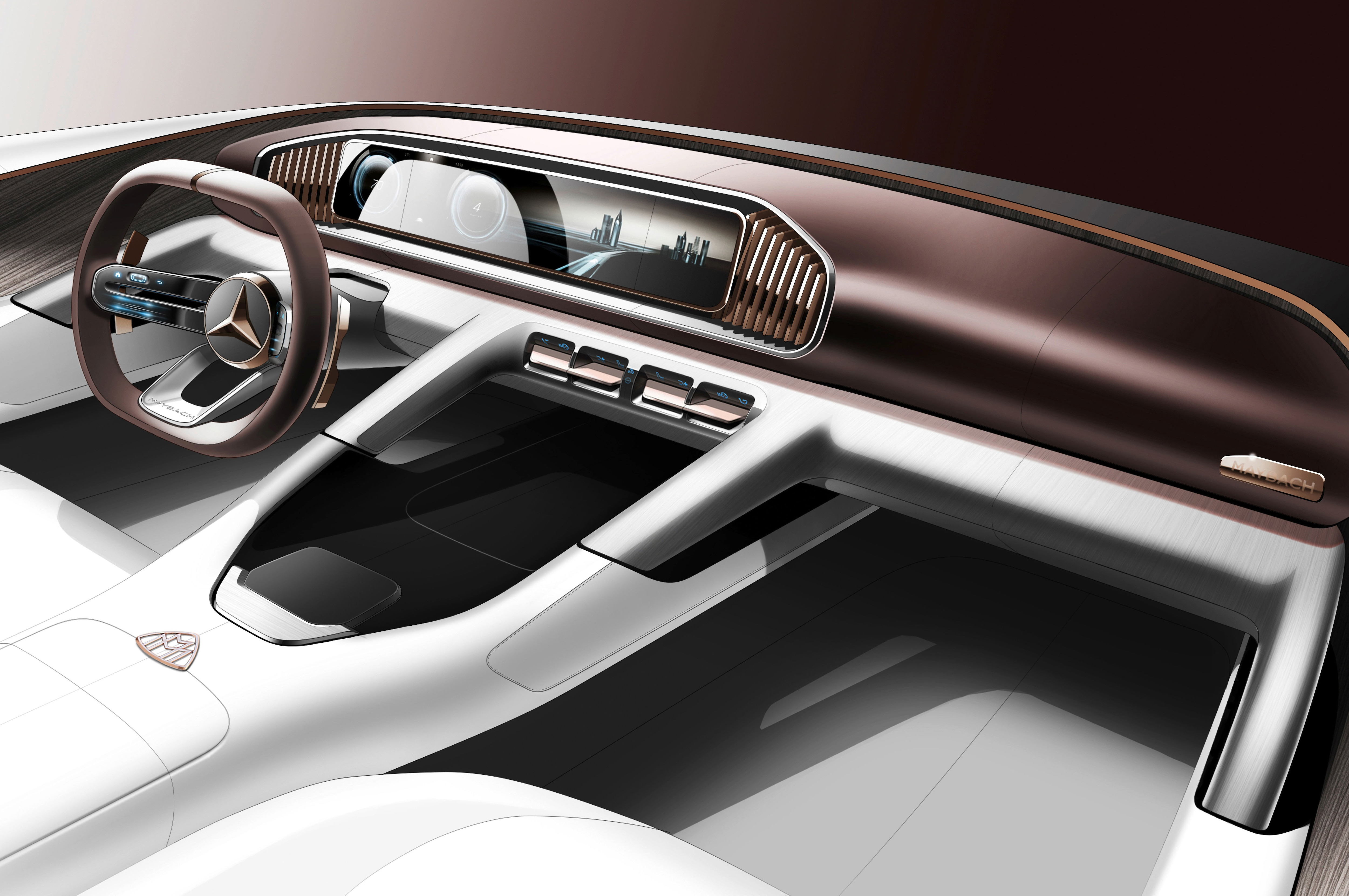 Mercedes Maybach Suv Concept S Interior Looks Sketchy