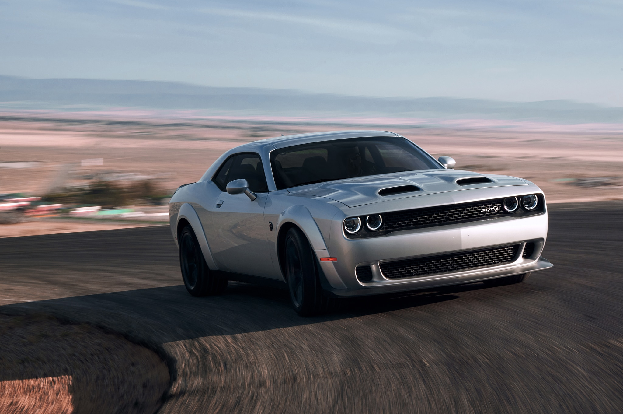 2019 Dodge Challenger SRT Hellcat Redeye Widebody Front Three Quarter In Motion 1