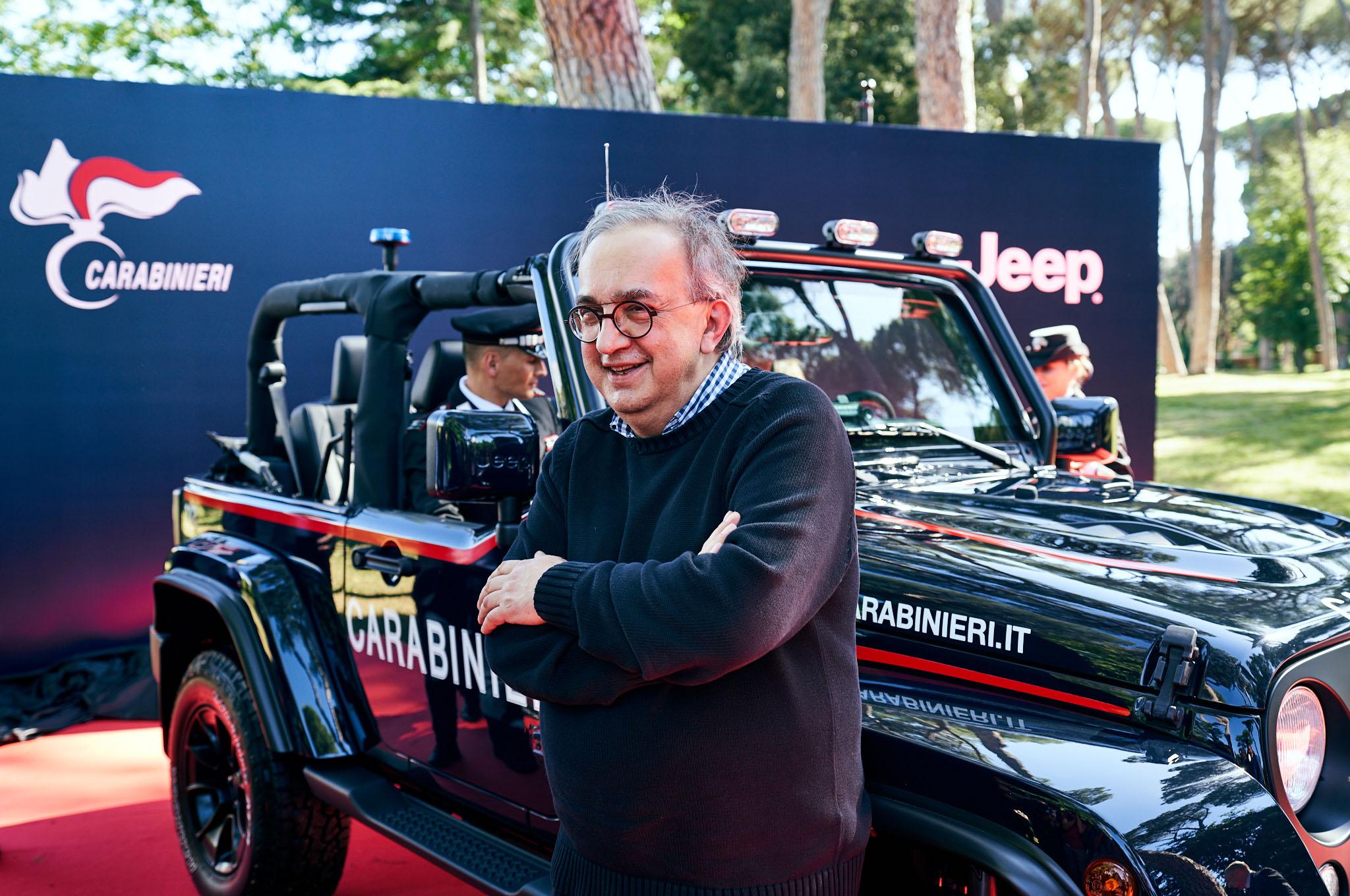 Jeep Wrangler Carabinieri Sergio Marchionne