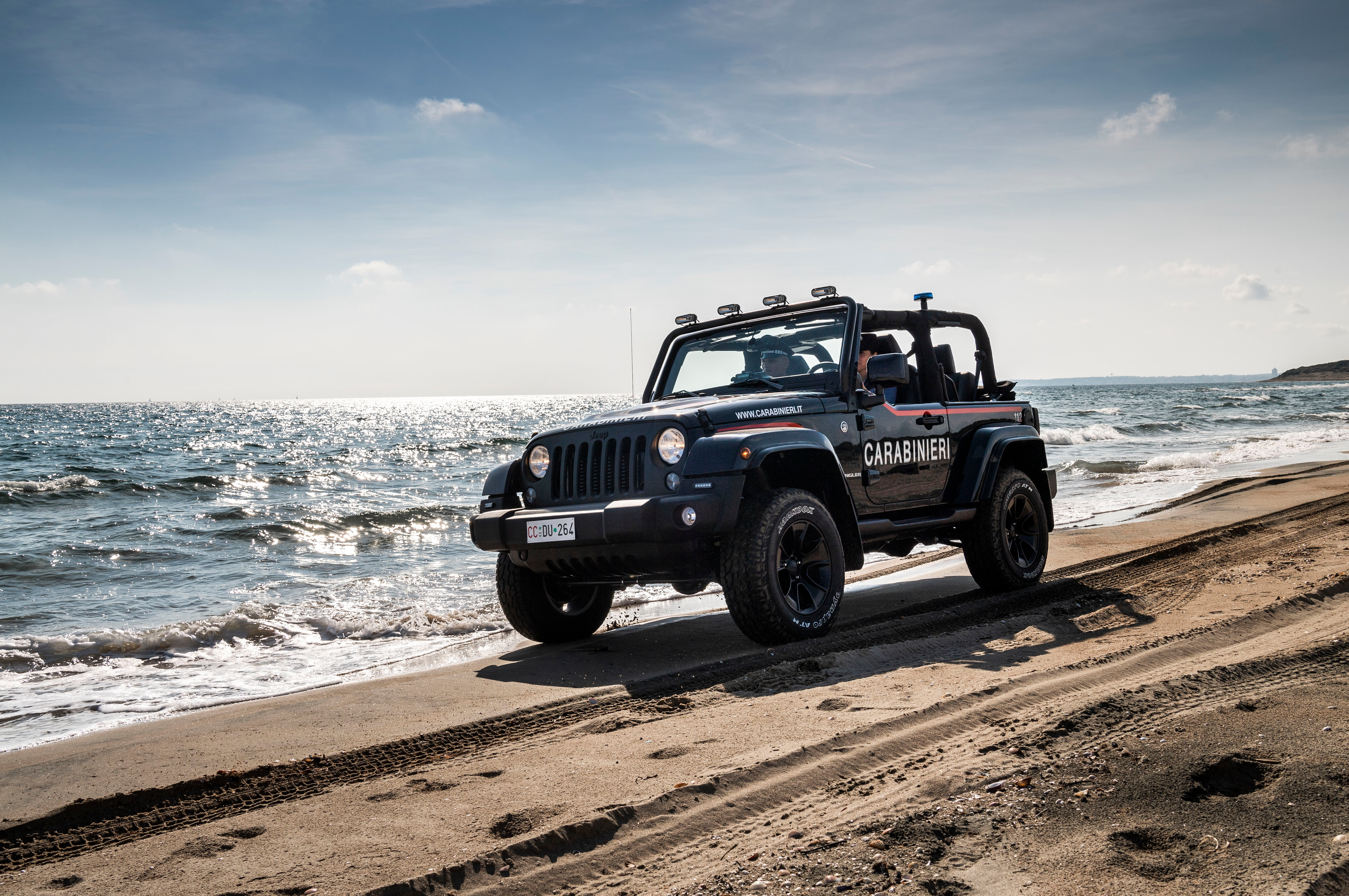 Jeep Wrangler Beach Patrol Vehicle Reports For Duty Automobile Leaking Roof 1 10