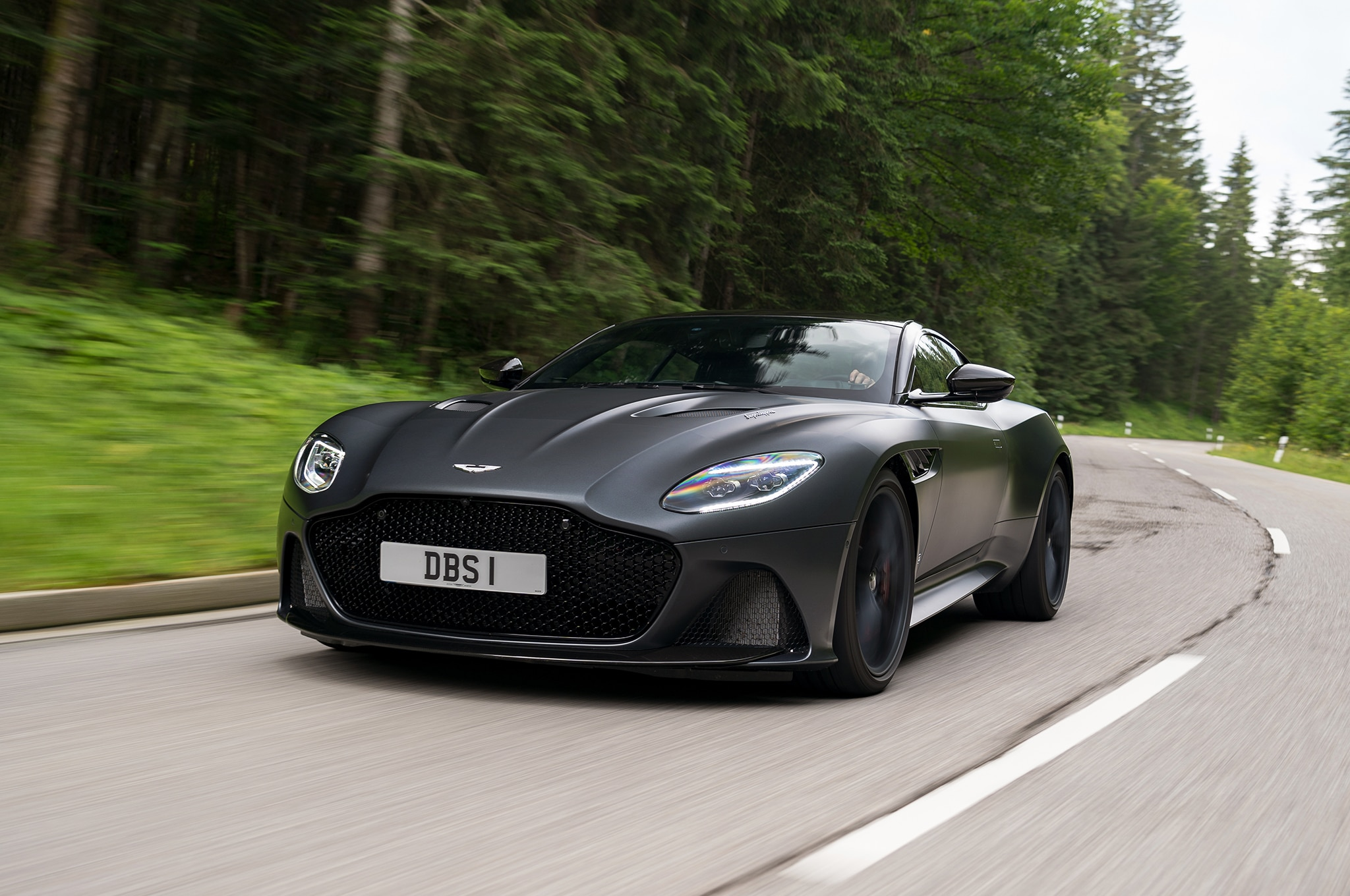 2019 Aston Martin DBS Superleggera Satin Xenon Grey 22