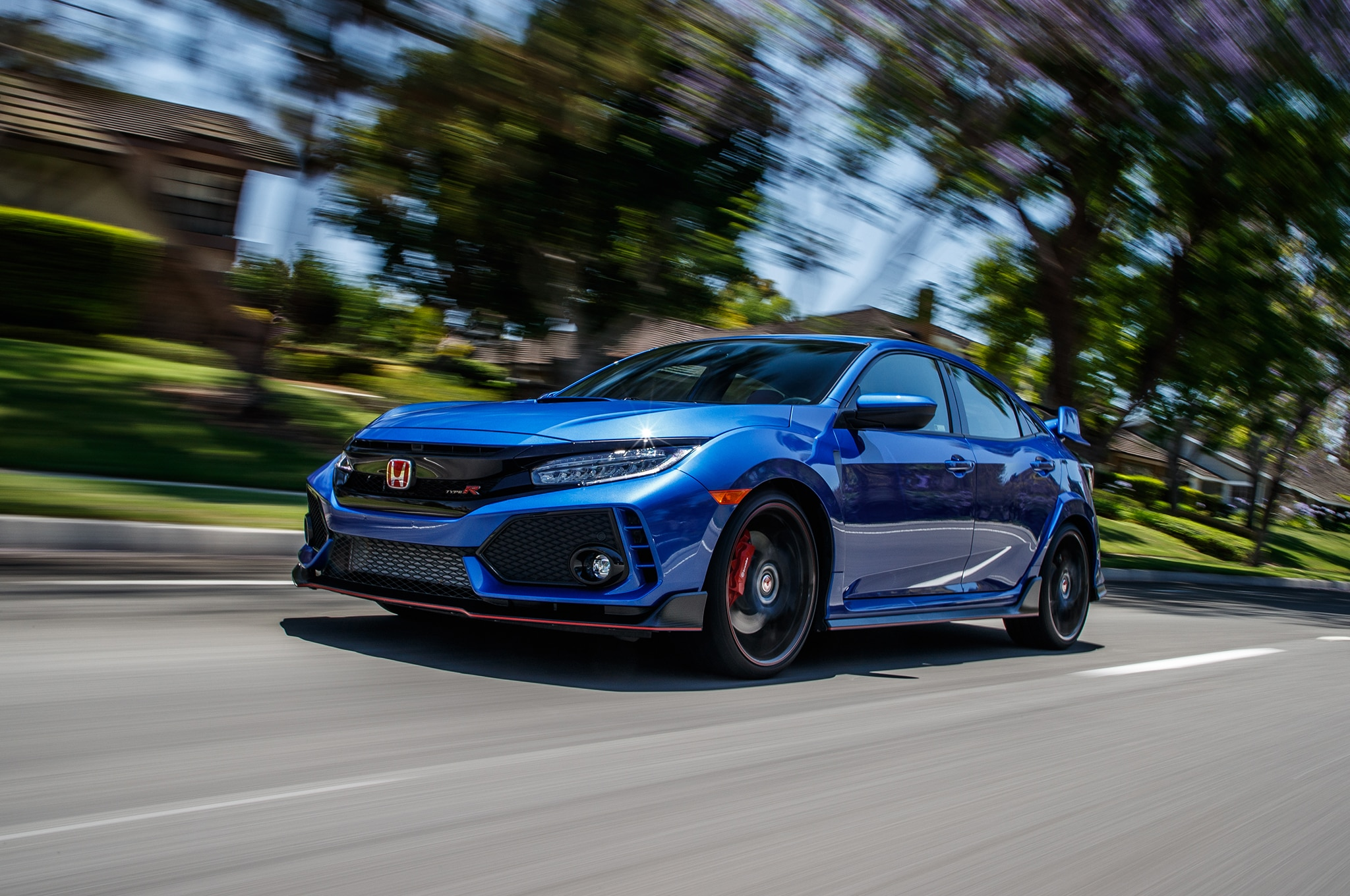 2018 Honda Civic Type R Front Three Quarter In Motion 7