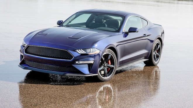 Ford Mustang Bullitt Kona Blue Front Three Quarters