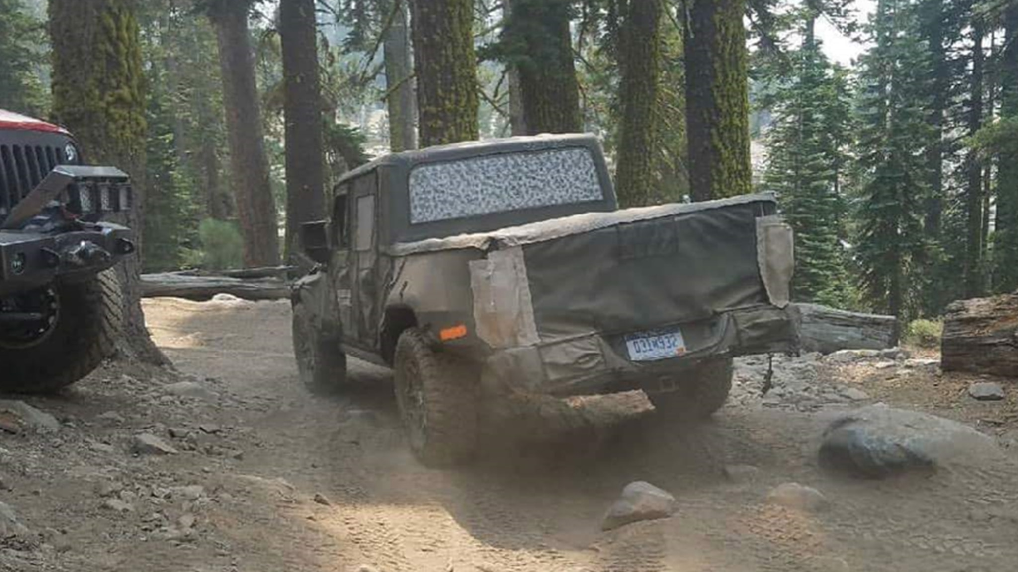 Jeep Wrangler Based Pickup Testing On Rubicon Trail