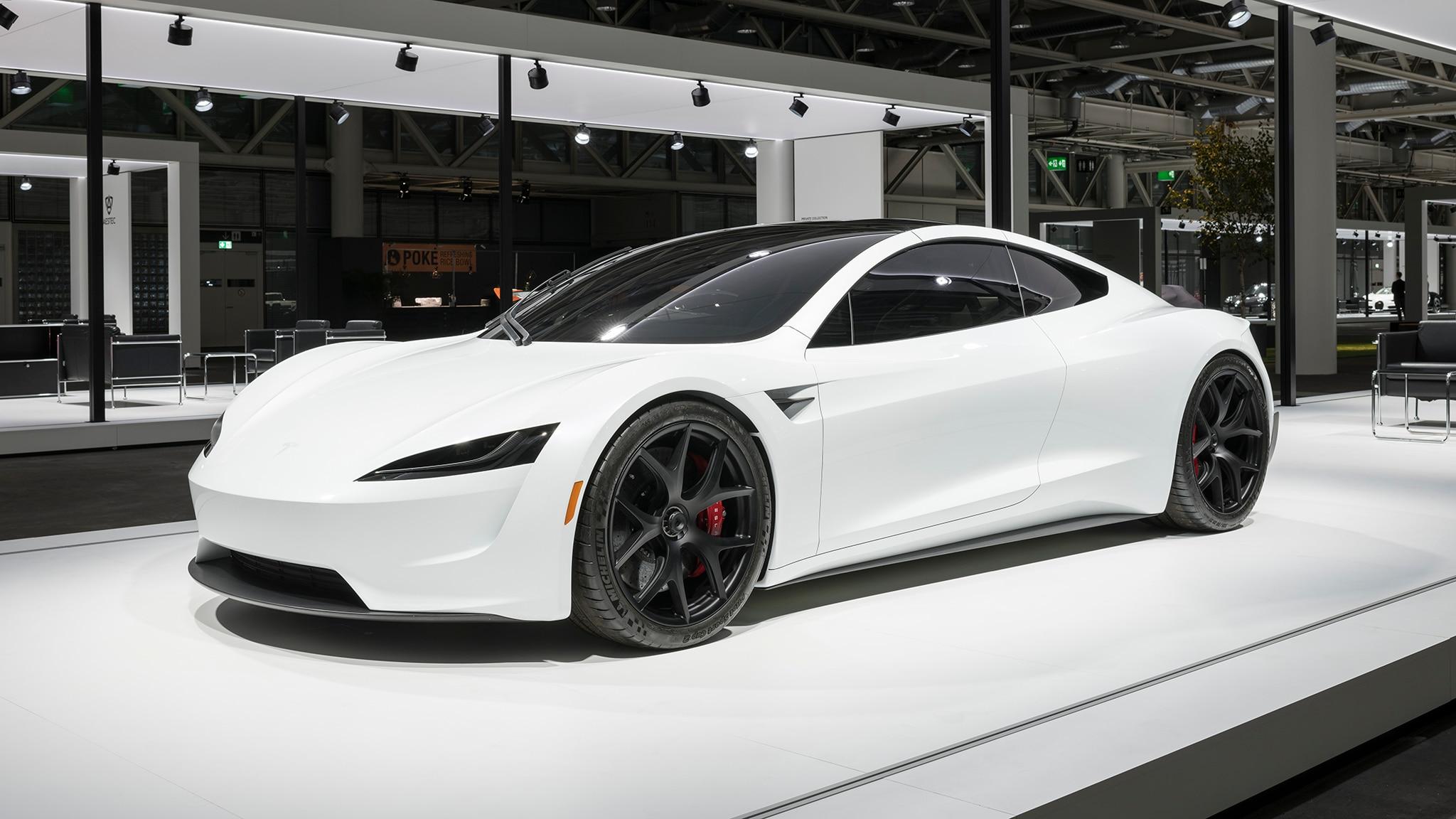 2020 Tesla Roadster Makes European Debut Dressed in White ...