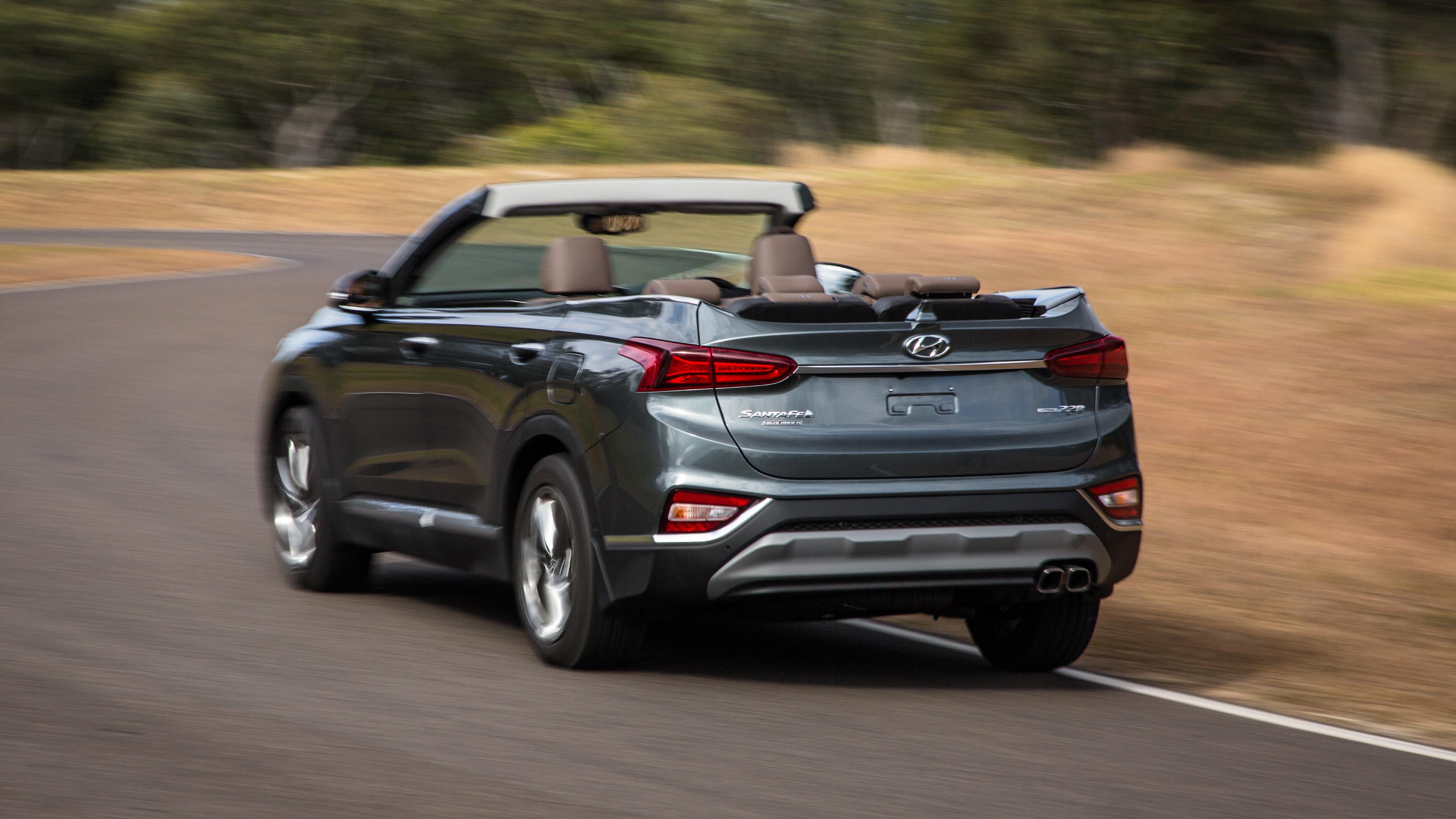 2019 Hyundai Santa Fe Cabriolet Prototype Spotted Down ...