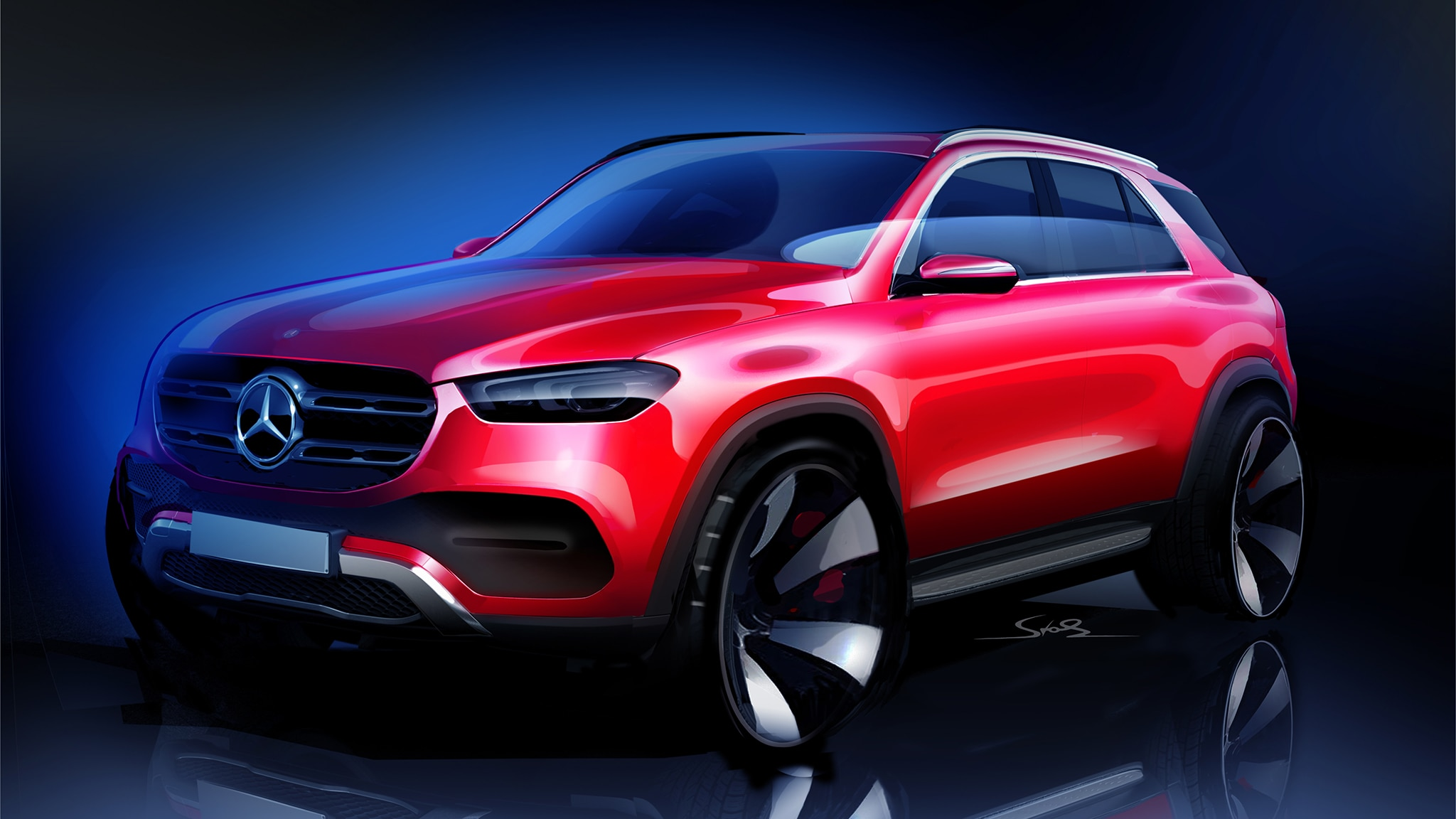 Mercedes Benz GLE Sketch