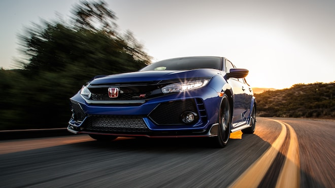 2018 Honda Civic Type R Front Three Quarter In Motion