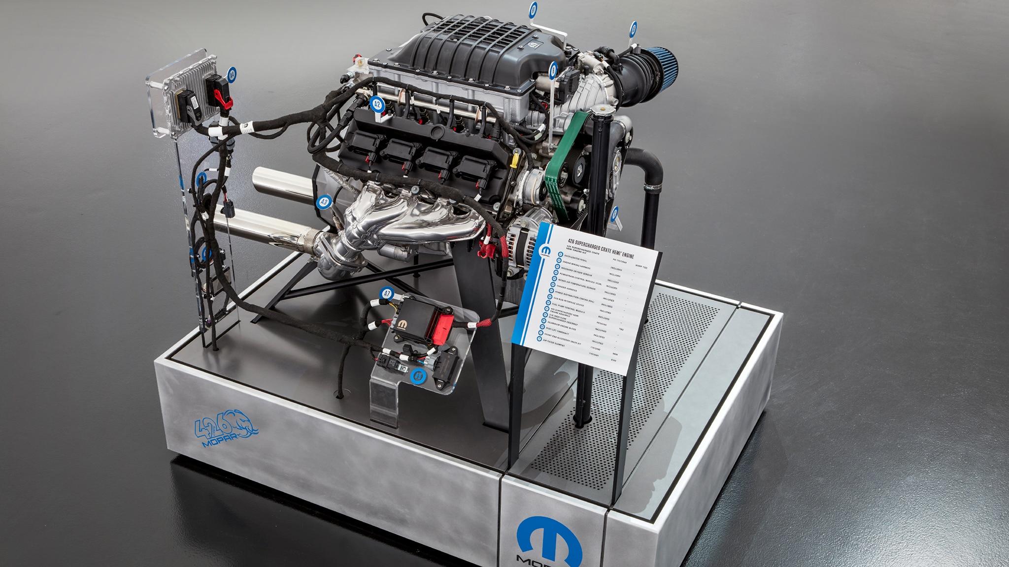 Dodge Mopar 426 Supercharged Hellephant Engine 2
