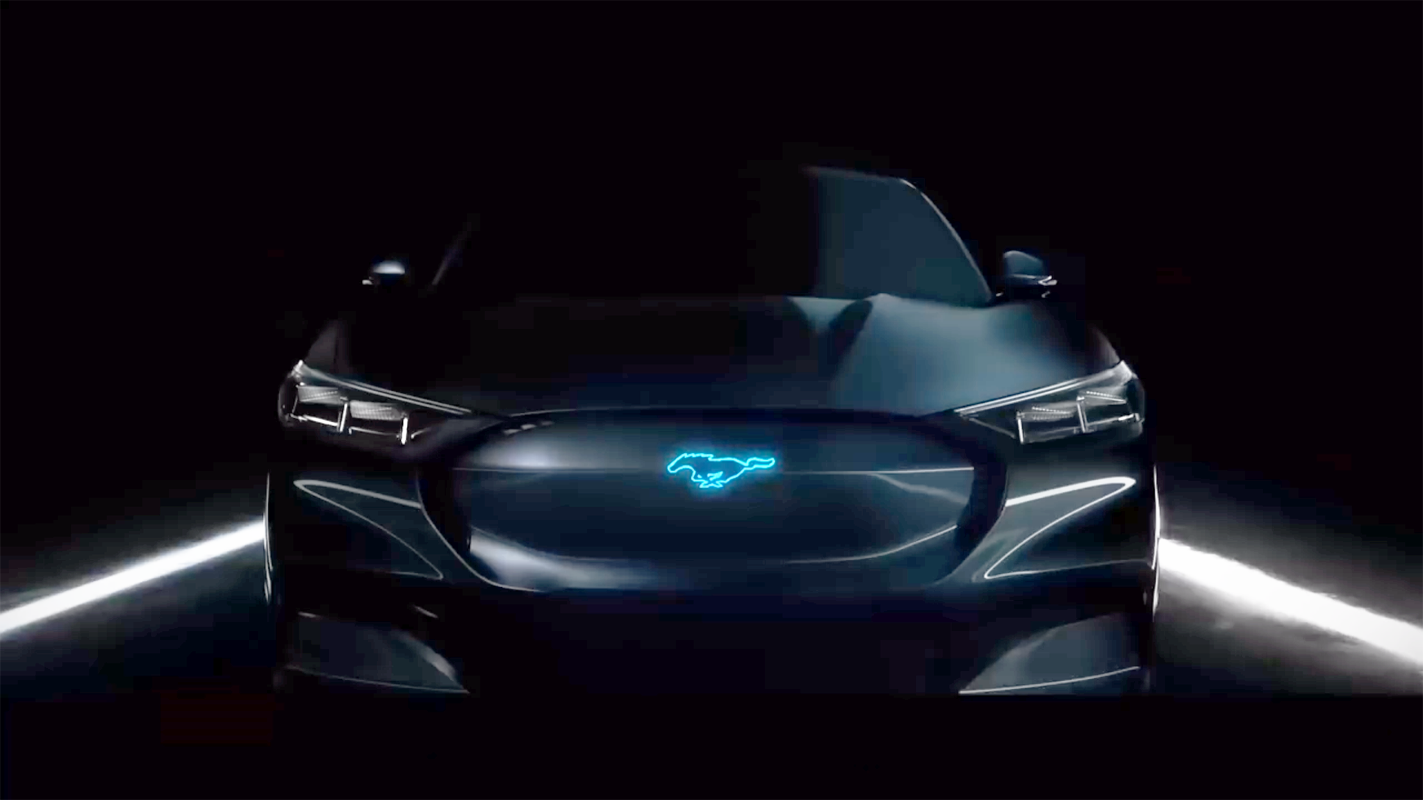 Ford mustang hybrid teaser enhanced