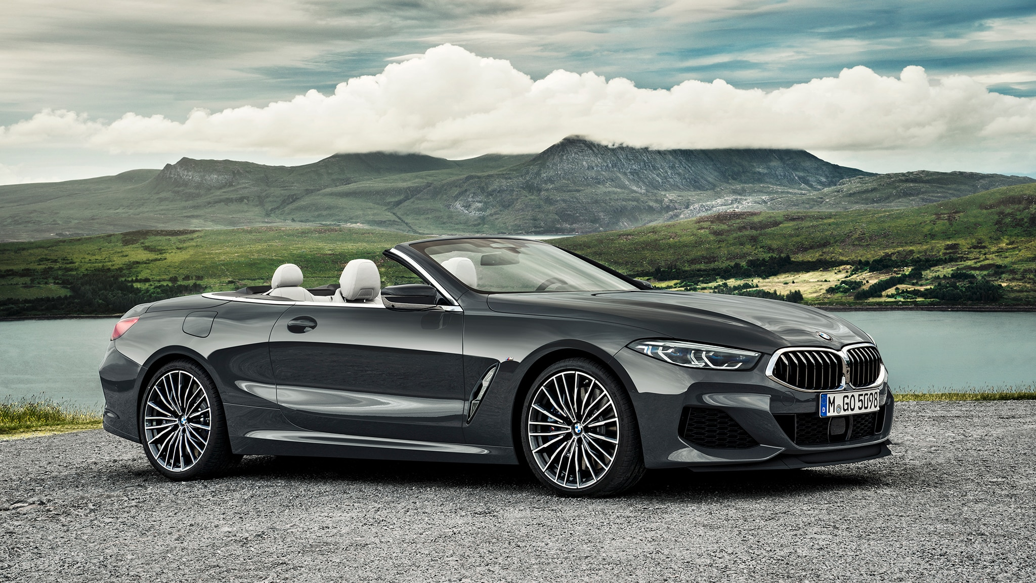 2019 BMW M850i Convertible Front Side View Parked