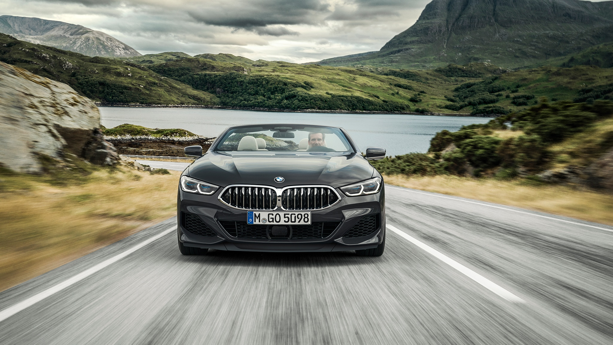2019 BMW M850i Convertible Front View On Road
