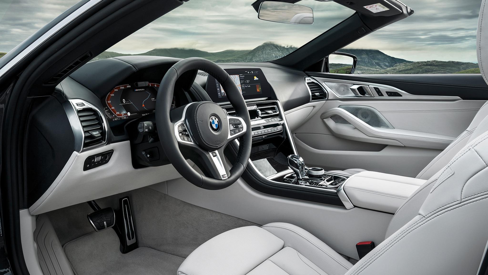 2019 BMW M850i Convertible Interior From Open Door