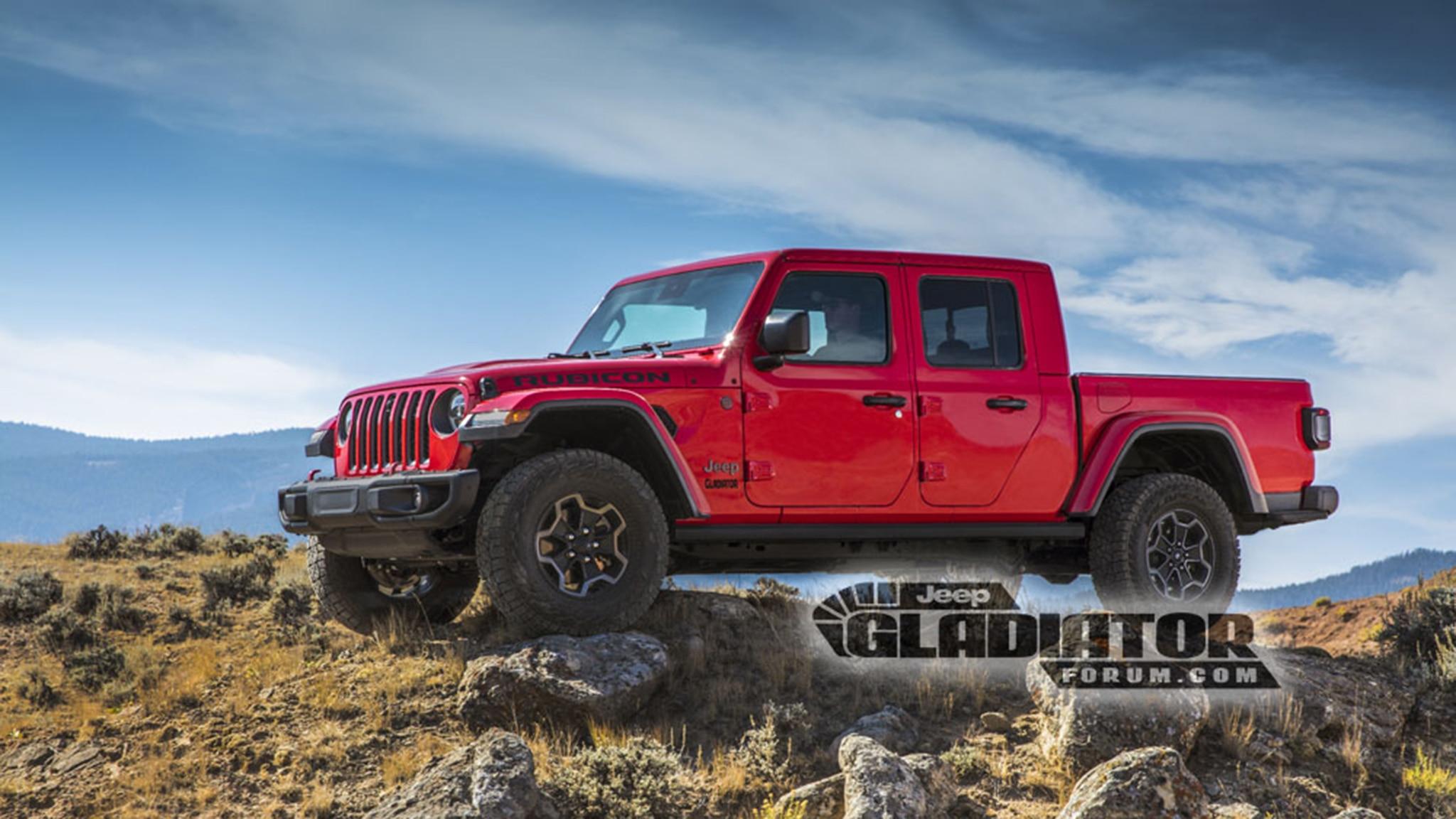 Jeep Gladiator Pickup Truck Photos Leak Online ...