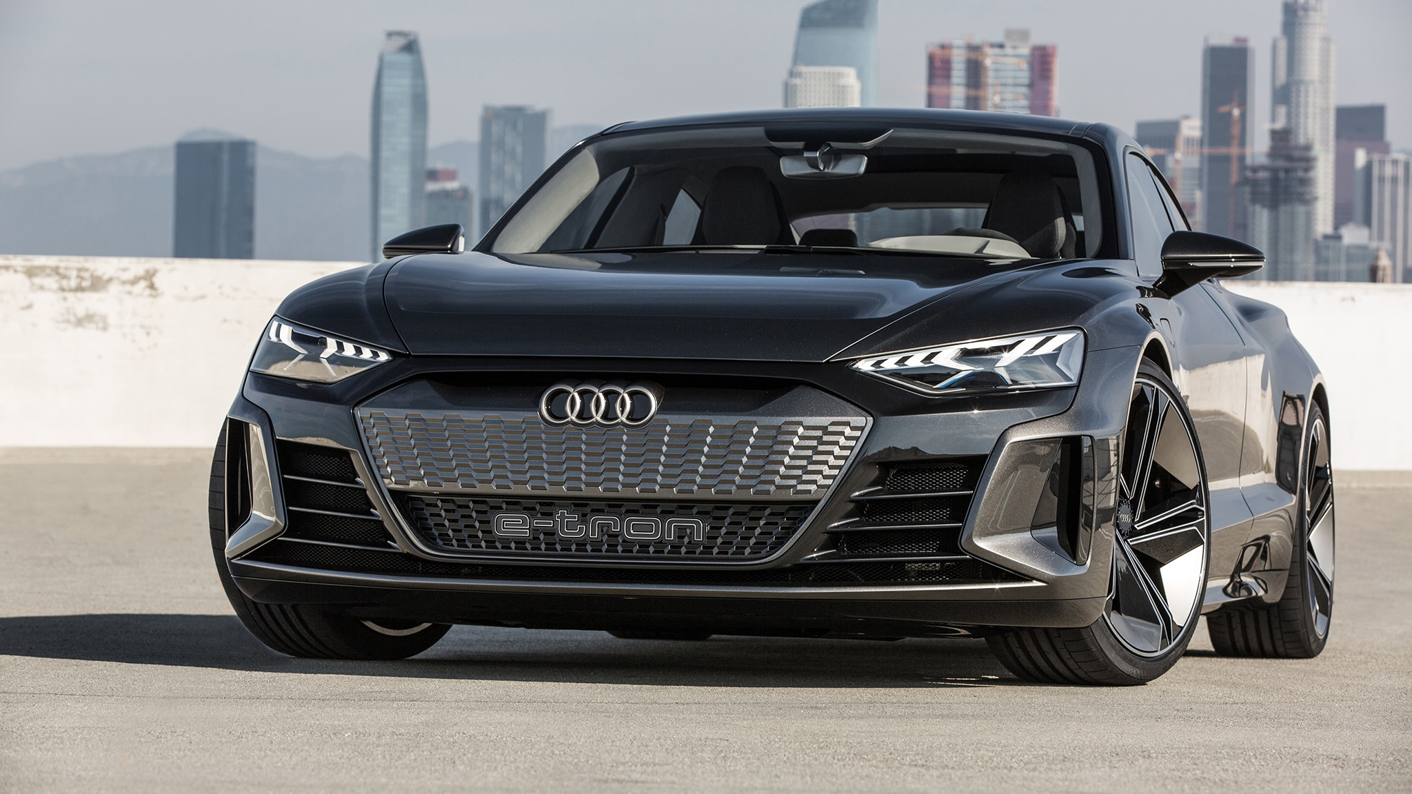 Audi E Tron GT Concept Front View Wheel Turned