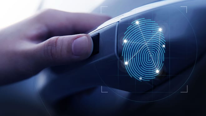2019 Hyundai Santa Fe Fingerprint Recognition Door Handle