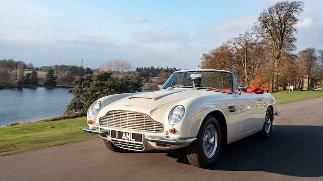 Aston Martin Heritage EV Concept Front Three Quarter Look