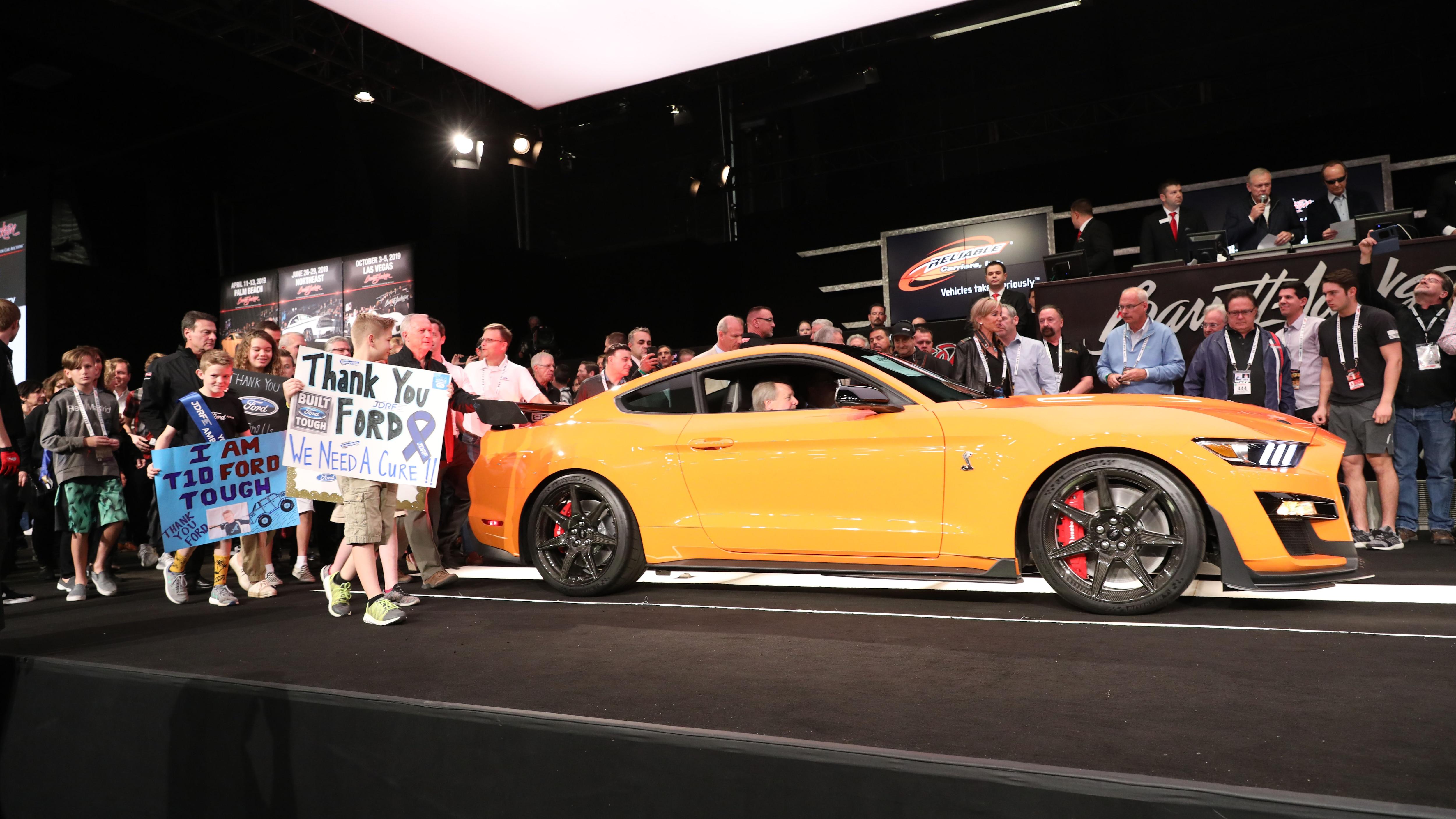 2020 Ford Mustang Shelby GT500 VIN 001 Barrett Jackson