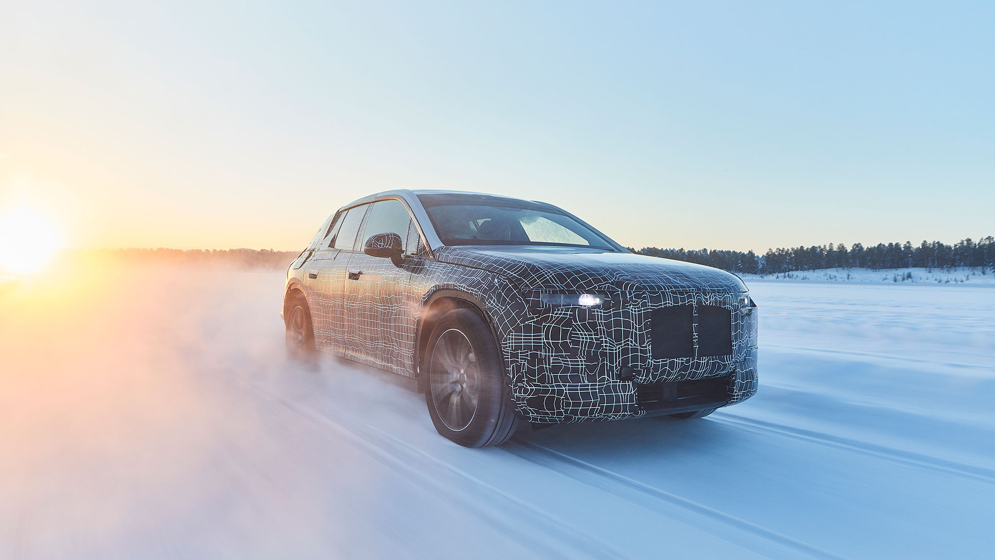 Production-Intent BMW iNext Steps Out into the Cold