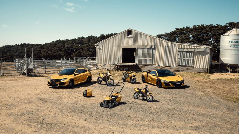 Honda celebrates 50th anniversary in Australia with gold-clad cars and bikes