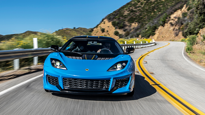 2020 Lotus Evora GT Front Motion View 2